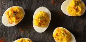 Jammy deviled eggs