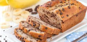 Toasted pecan banana bread with chocolate chips