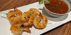 Grilled ginger honey glazed shrimp picture